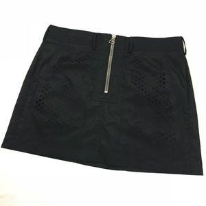 Alexander Wang Black Front Zip Pocket Skirt sz 2